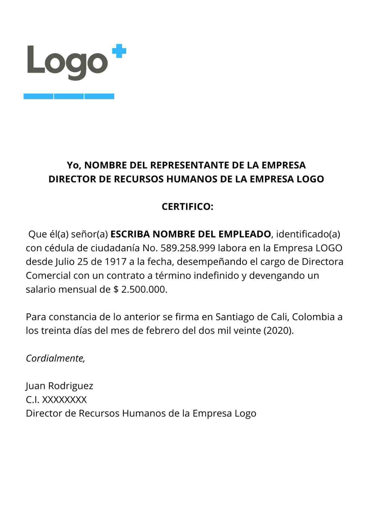 Certificado Laboral en Colombia