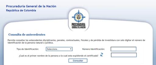 certificado de la procuraduría