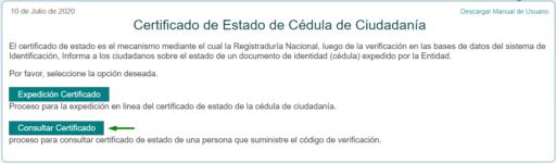 certificado de vigencia de cedula