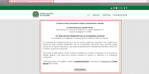 certificado judicial policia