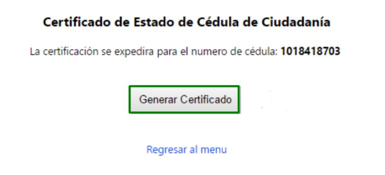 registraduría certificado cedula
