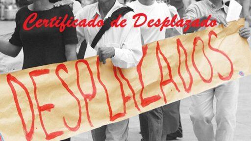Certificado de Desplazado