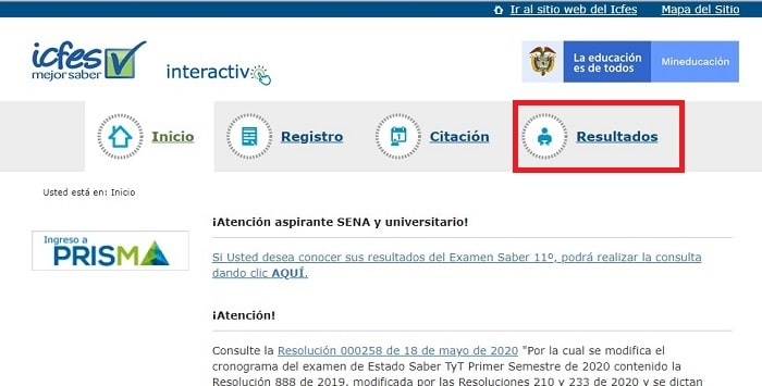 Certificado ICFES 2