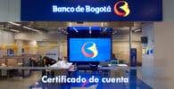 Certificado de cuenta Banco de Bogotá