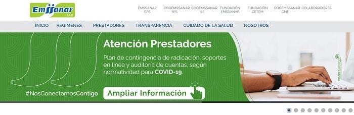 sitio web de Emssanar