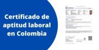 Certificado de aptitud laboral en Colombia